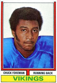 1974 Topps #113 Chuck Foreman RC