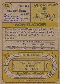 1974 Topps #127 Bob Tucker AP back image