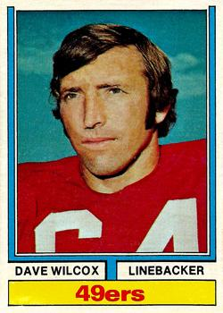 1974 Topps #190 Dave Wilcox