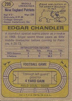1974 Topps #299 Edgar Chandler back image