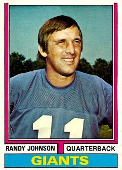 1974 Topps #419 Randy Johnson