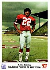1974 B.C. Lions Royal Bank #7 Johnny Musso