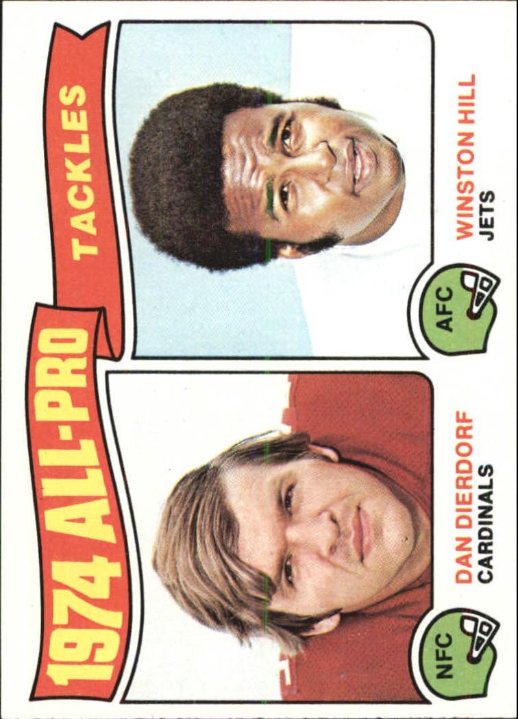 1975 Topps #206 All Pro Tackles/Dan Dierdorf/Winston Hill