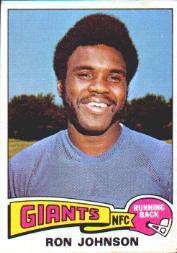 1975 Topps #395 Ron Johnson