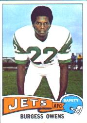 1975 Topps #424 Burgess Owens