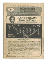 1976 Wonder Bread #6 Richard Caster back image