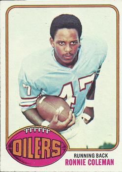 1976 Topps #22 Ronnie Coleman RC