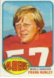 1976 Topps #182 Frank Nunley