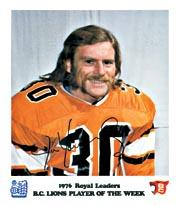 1976 B.C. Lions Royal Bank #15 Jim Young