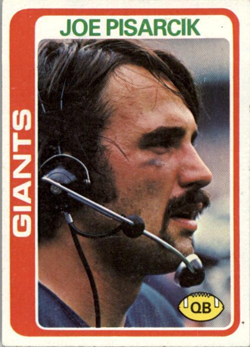 1978 Topps #7 Joe Pisarcik RC