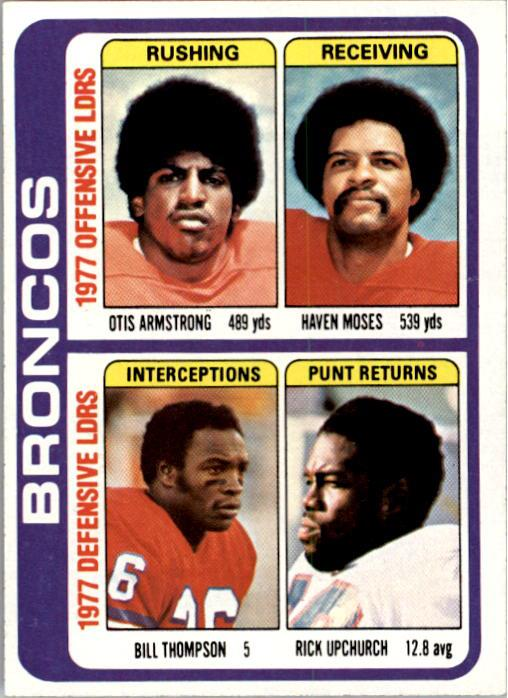 1978 Topps #508 Denver Broncos TL/Otis Armstrong/Haven Moses/Bill Thompson/Rick Upchurch/(checklist back)