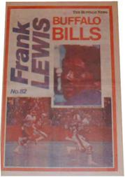 1978 Bills Buffalo News Posters #3 Frank Lewis