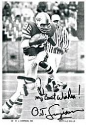 1978 Bills Postcards #5 O.J. Simpson