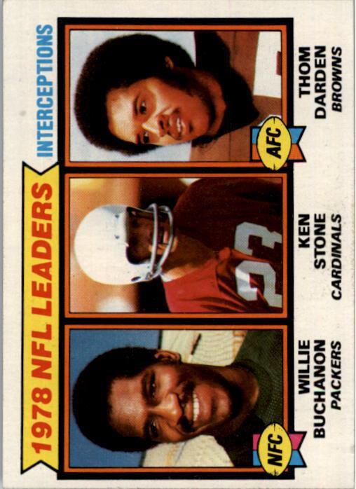 1979 Topps #5 Interception Leaders/Willie Buchanon/Ken Stone/Thom Darden