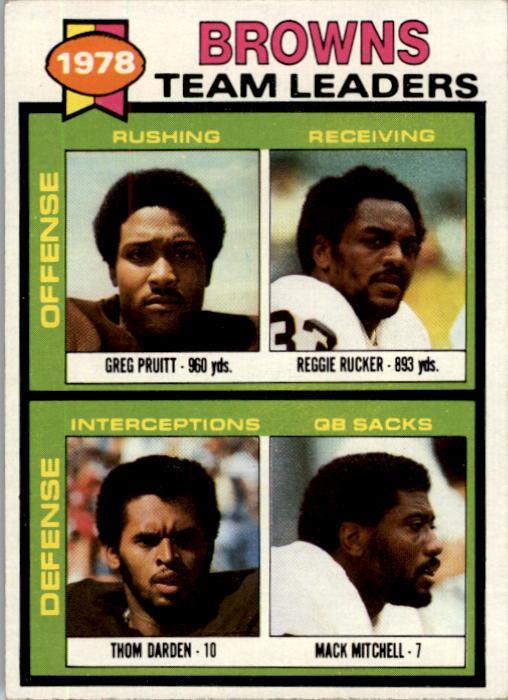 1979 Topps #113 Cleveland Browns TL/Greg Pruitt/Reggie Rucker/Thom Darden/Mack Mitchell/(checklist back)