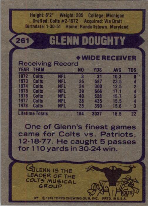 1979 Topps #261 Glenn Doughty back image