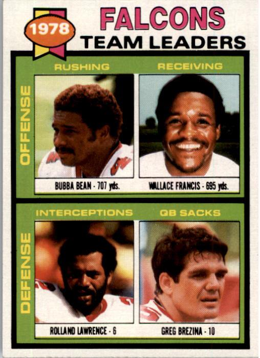 1979 Topps #263 Atlanta Falcons TL/Bubba Bean/Wallace Francis/Rolland Lawrence/Greg Brezina/(checklist back)