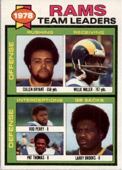1979 Topps #282 Los Angeles Rams TL/Cullen Bryant/Willie Miller/Rod Perry/Pat Thomas/Larry Brooks/(checklist back)