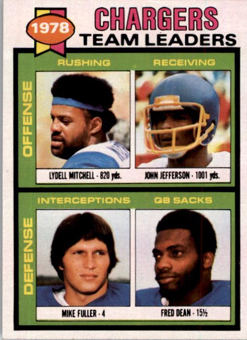 1979 Topps #338 San Diego Chargers TL/Lydell Mitchell/John Jefferson/Mike Fuller/Fred Dean/(checklist back)