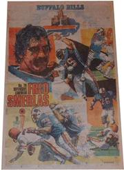1979 Bills Buffalo News Posters #5 Fred Smerlas