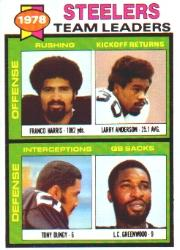 1979 Topps Team Checklists #19 Steelers TL/F.Harris/Dungy