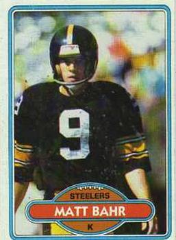 1980 Topps #31 Matt Bahr RC