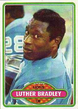 1980 Topps #103 Luther Bradley RC