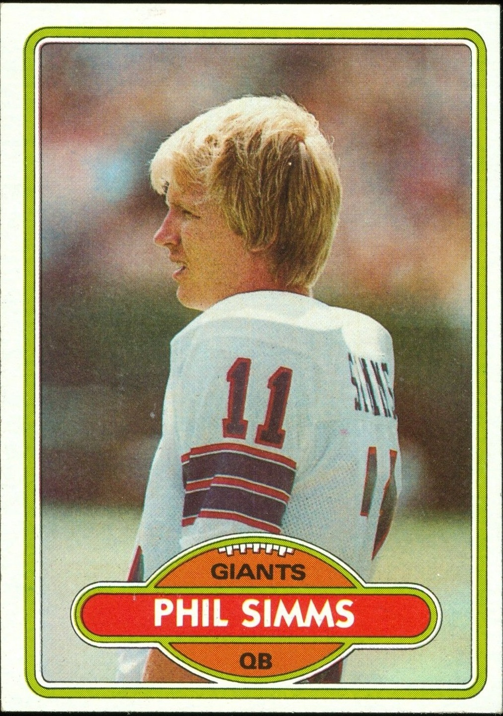 1980 Topps #225 Phil Simms RC