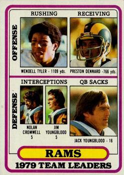 1980 Topps #394 Los Angeles Rams TL