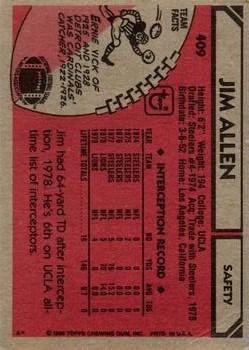 1980 Topps #409 Jim Allen back image