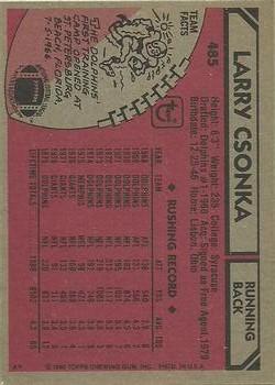 1980 Topps #486 John Hill back image