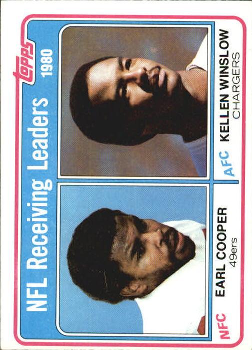 1981 Topps #2 Receiving Leaders/Earl Cooper/Kellen Winslow