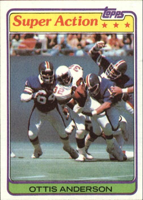 1981 Topps #12 Ottis Anderson SA