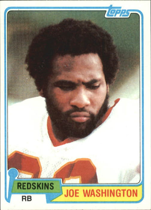 1981 Topps #22 Joe Washington