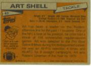 1981 Topps #43 Art Shell back image