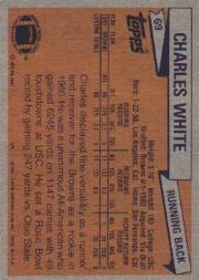 1981 Topps #69 Charles White RC back image