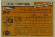 1981 Topps #81 Jack Thompson back image