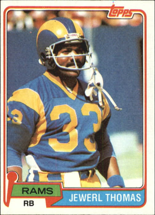 1981 Topps #98 Jewerl Thomas RC