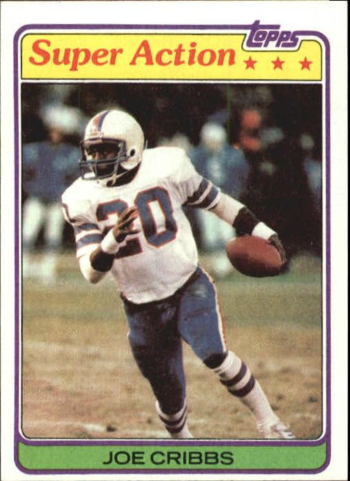 1981 Topps #103 Joe Cribbs SA