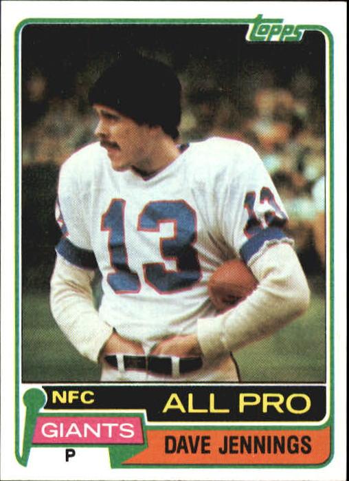 1981 Topps #110 Dave Jennings