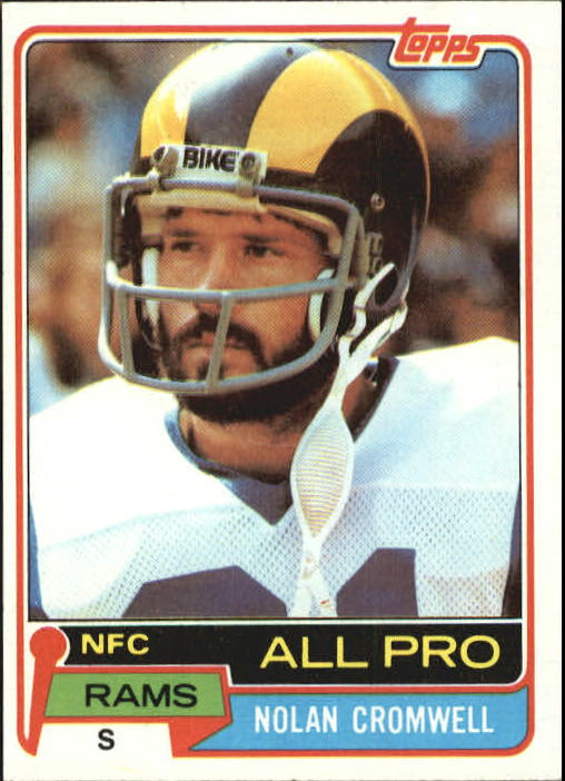 1981 Topps #120 Nolan Cromwell AP/UER (Rushing TD's/added wrong)