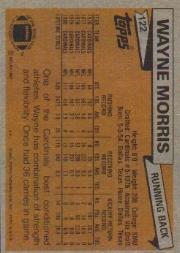 1981 Topps #122 Wayne Morris back image