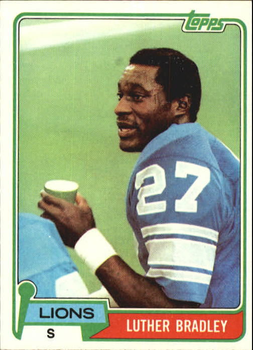 1981 Topps #203 Luther Bradley