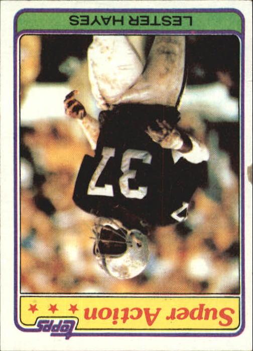 1981 Topps #218 Lester Hayes SA