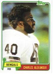 1981 Topps #222 Charles Alexander RC