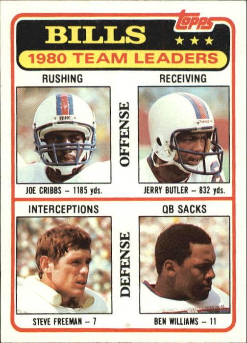 1981 Topps #226 Buffalo Bills TL/Joe Cribbs/Jerry Butler/Steve Freeman/Ben Williams/(checklist back)
