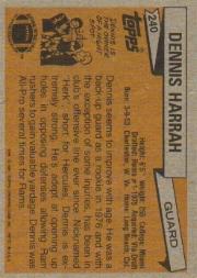 1981 Topps #240 Dennis Harrah back image