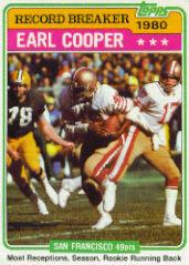 1981 Topps #331 Earl Cooper RB/Most Receptions/Running Back;/Season: Rookie