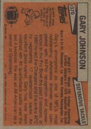1981 Topps #370 Gary Johnson back image