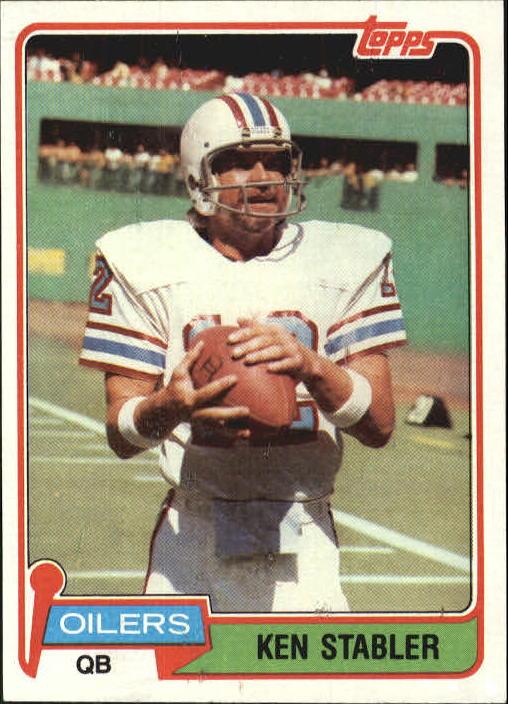 1981 Topps #405 Ken Stabler